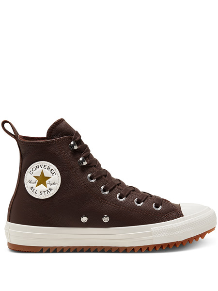Кожаные теплые кеды Chuck Taylor All Star Hiker Dark Chocolate Converse, фото
