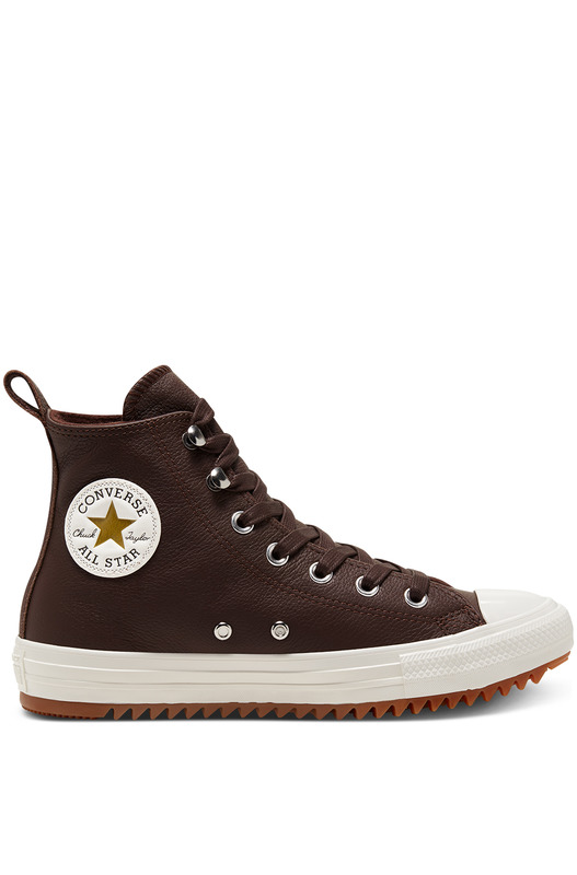 Кожаные теплые кеды Chuck Taylor All Star Hiker Dark Chocolate