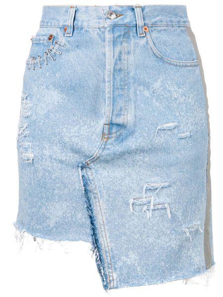 Джинсовая юбка с прорезями Forte Dei Marmi Couture фото
