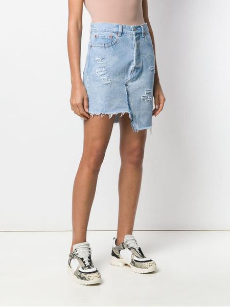 Джинсовая юбка с прорезями Forte Dei Marmi Couture, фото