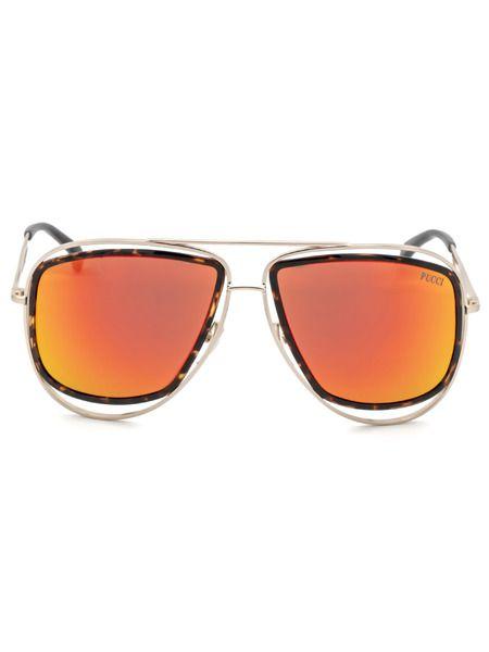 Солнцезащитные очки-авиаторы EP0003 44U Emilio Pucci фото