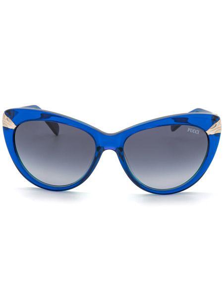 Солнцезащитные очки-кошечки в синей оправе EP0017 92W Emilio Pucci фото