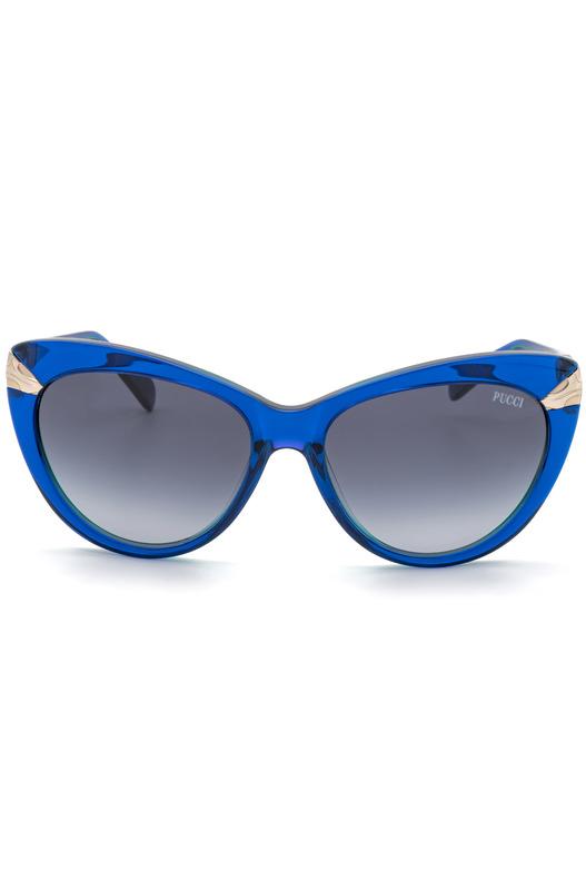 Солнцезащитные очки-кошечки в синей оправе EP0017 92W