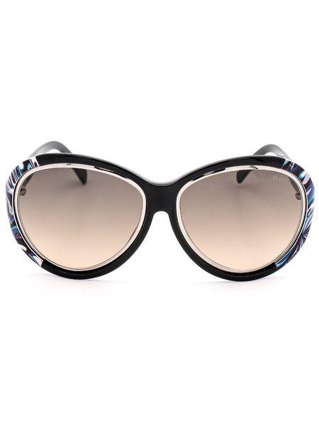 Солнцезащитные очки черного цвета с принтом EP0018 05B Emilio Pucci фото