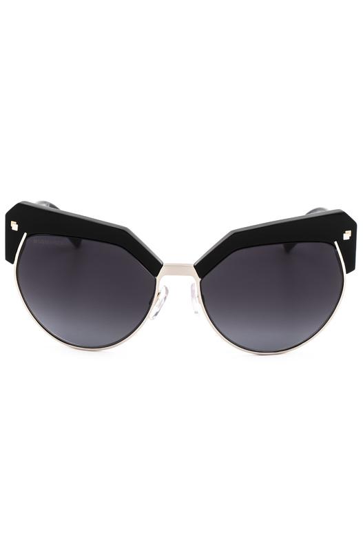 Солнцезащитные очки DQ0254 01B в черной оправе с вставками