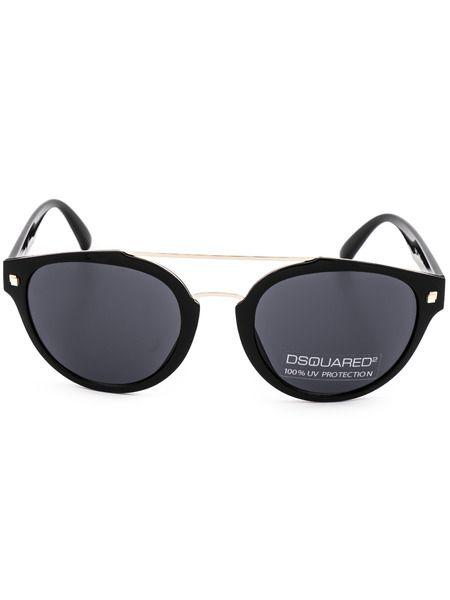 Солнцезащитные очки в овальной оправе DQ0255 01A Dsquared2 фото