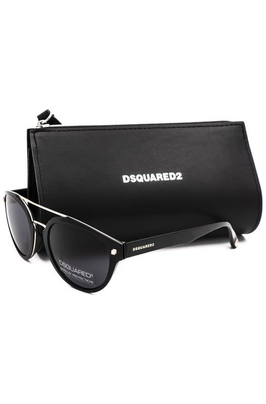Солнцезащитные очки в овальной оправе DQ0255 01A Dsquared2, фото