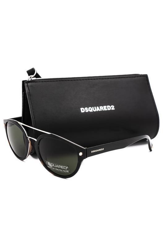 Солнцезащитные очки в круглой оправе DQ0255 52N Dsquared2, фото
