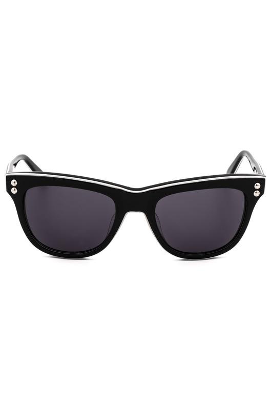 Солнцезащитные очки с белой окантовкой MO72201SA 01SA Moschino