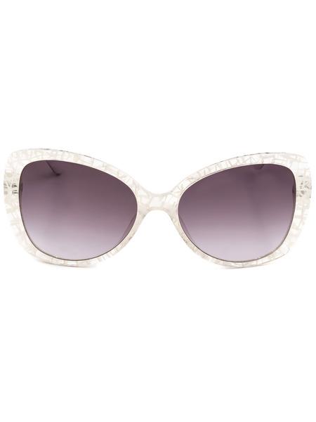 Солнцезащитные очки-бабочки в белой оправе MO73103SA 03SA Moschino, фото