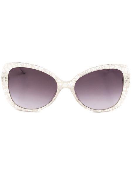 Солнцезащитные очки-бабочки в белой оправе MO73103SA 03SA Moschino фото