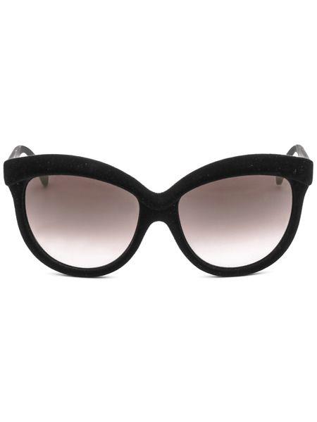 Солнцезащитные очки-бабочки в текстильной оправе Italia Independent фото