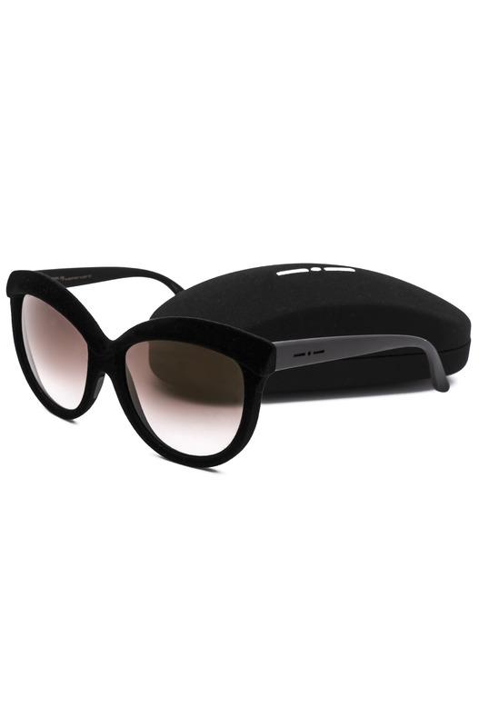 Солнцезащитные очки-бабочки в текстильной оправе Italia Independent