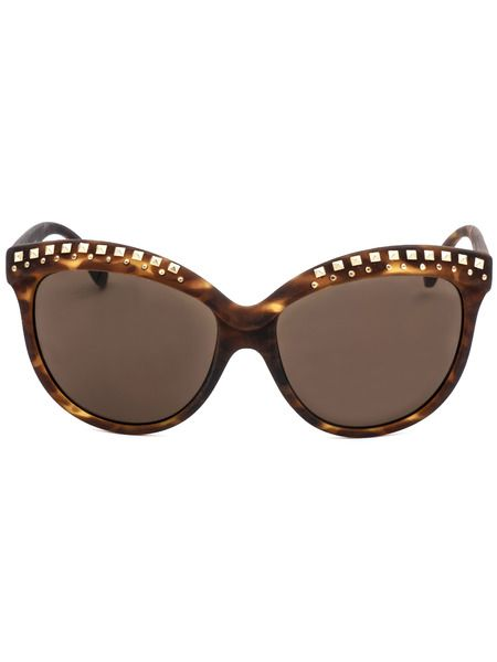 Коричневые солнцезащитные очки с декором на оправе Italia Independent фото