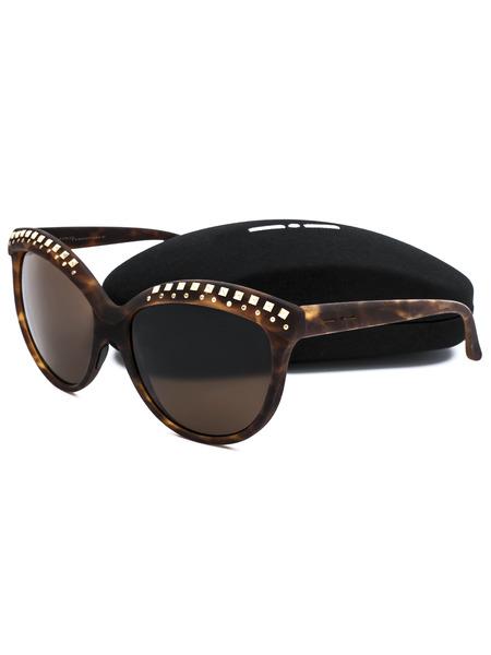 Коричневые солнцезащитные очки с декором на оправе Italia Independent, фото
