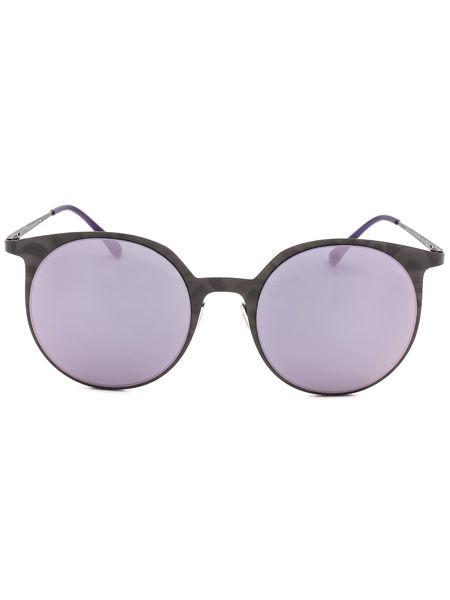 Круглые солнцезащитные очки в тонкой оправе