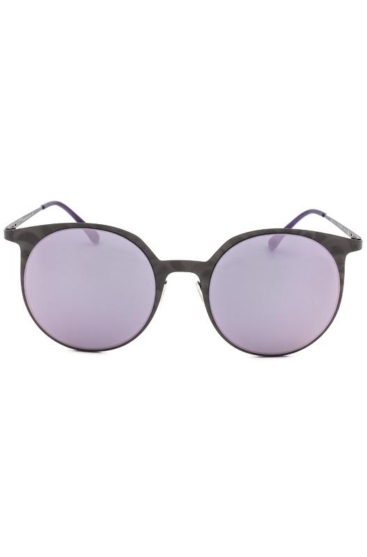 Круглые солнцезащитные очки в тонкой оправе Italia Independent, фото