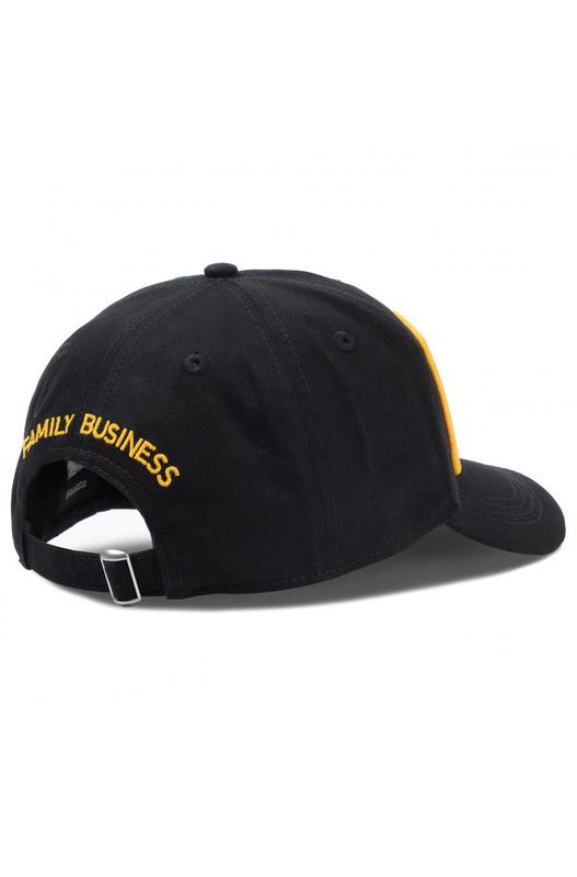 Черная бейсболка из хлопка Dsquared2, фото