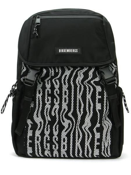 Черный рюкзак с принтом Bikkembergs, фото
