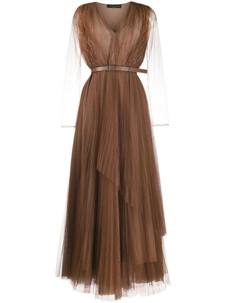 Полупрозрачное многослойное платье Fabiana Filippi фото
