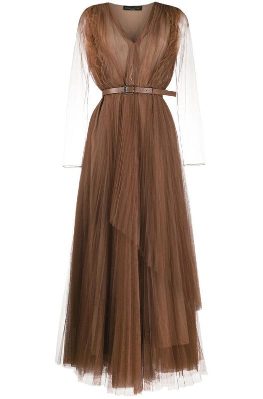 Полупрозрачное многослойное платье Fabiana Filippi, фото