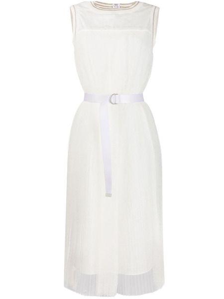 Белое плиссированное платье Fabiana Filippi фото