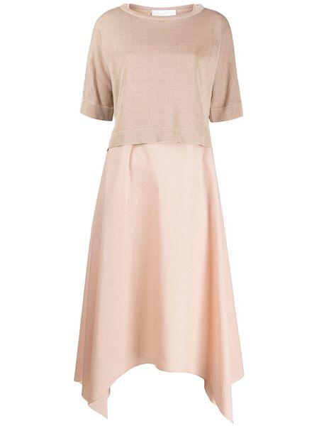 Платье миди с контрастными вставками Fabiana Filippi фото