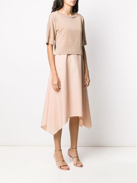 Платье миди с контрастными вставками Fabiana Filippi, фото