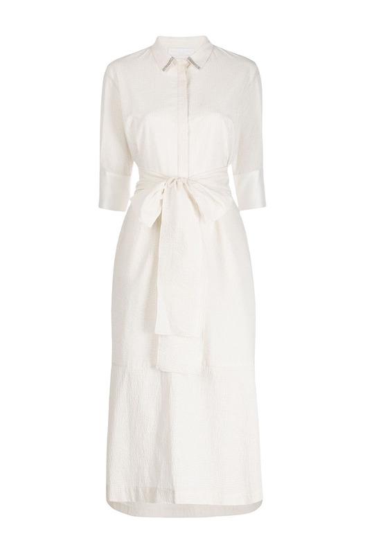 Платье-рубашка с поясом Fabiana Filippi, фото