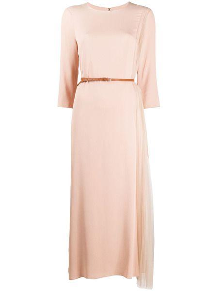Ассиметричное платье с плиссированного тюля Fabiana Filippi фото