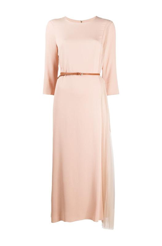 Ассиметричное платье с плиссированного тюля Fabiana Filippi, фото
