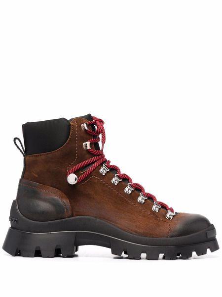 Массивные ботинки на шнуровке Dsquared2 фото