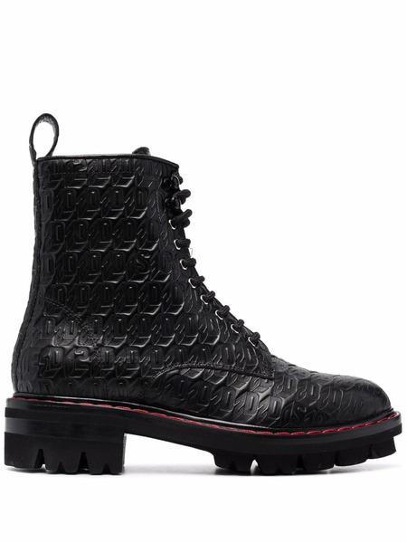Ботинки на шнуровке с монограммой Dsquared2, фото