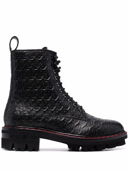 Ботинки на шнуровке с монограммой Dsquared2 фото