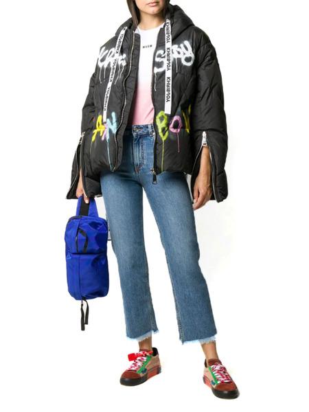 Черная куртка-пуховик с граффити Khrisjoy, фото