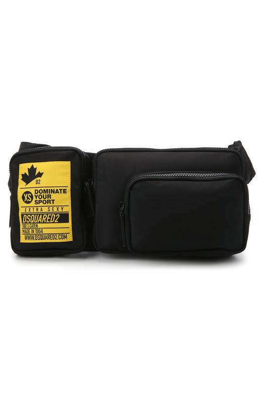 Черная текстильная поясная сумка Dsquared2, фото