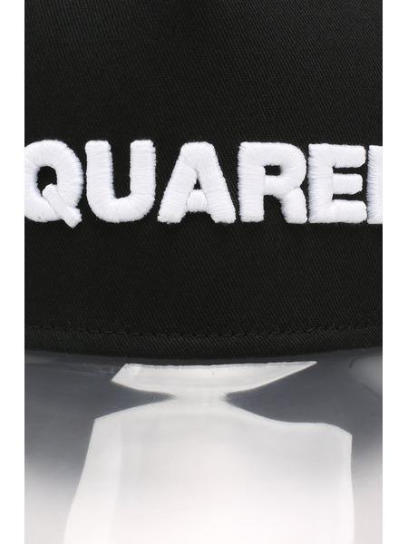 Черная бейсболка с прозрачным козырьком Dsquared2, фото