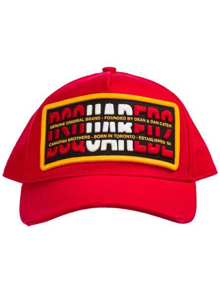 Красная бейсбольная кепка Dsquared2 фото