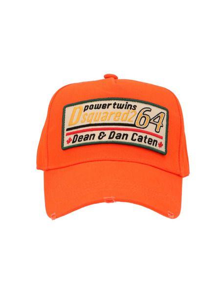 Оранжевая кепка с нашивкой-логотипом Dsquared2 фото