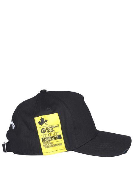 Черная бейсбольная кепка с лого Dsquared2 фото