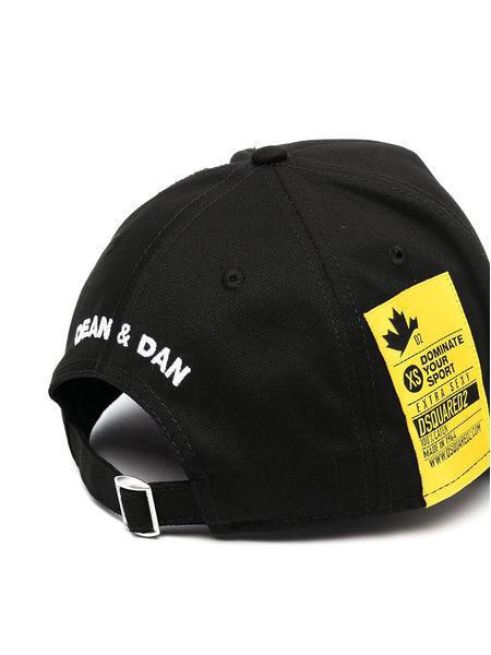 Черная бейсбольная кепка с лого Dsquared2, фото