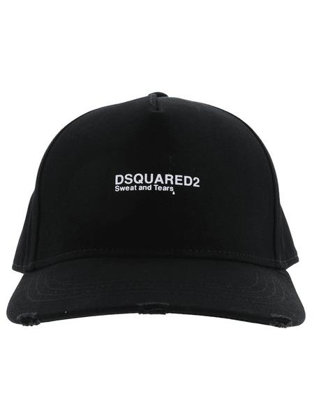Черная бейсболка с вышитым логотипом Dsquared2 фото
