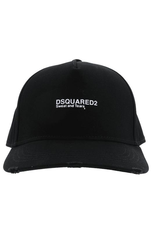 Черная бейсболка с вышитым логотипом Dsquared2, фото