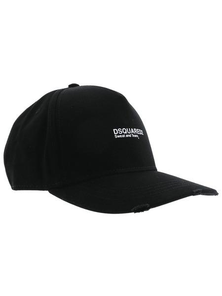 Черная бейсболка с вышитым логотипом