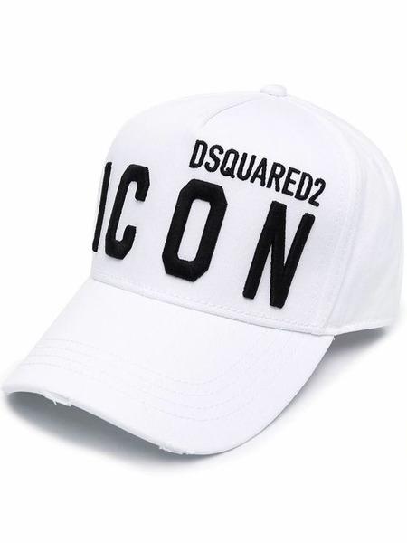 Белая бейсбольная кепка Icon с вышитым логотипом Dsquared2, фото