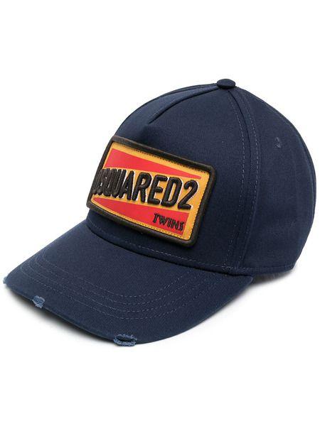 Синяя кепка с вышитым логотипом