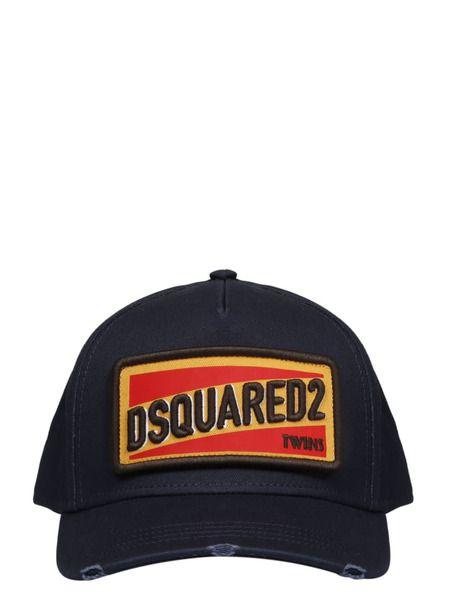 Синяя кепка с вышитым логотипом Dsquared2 фото