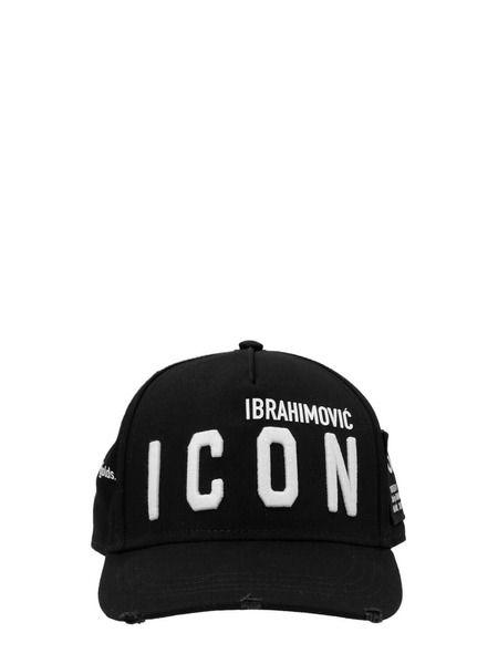 Черная бейсболка Ibrahimovic Icon Dsquared2 фото