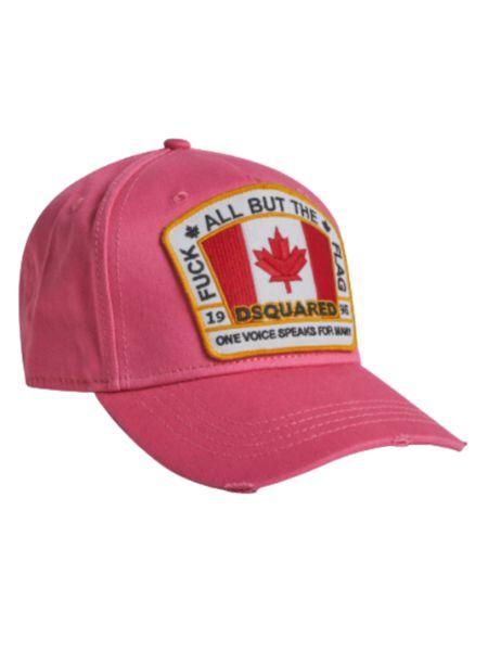 Розовая бейсболка с нашивкой Canada Dsquared2 фото