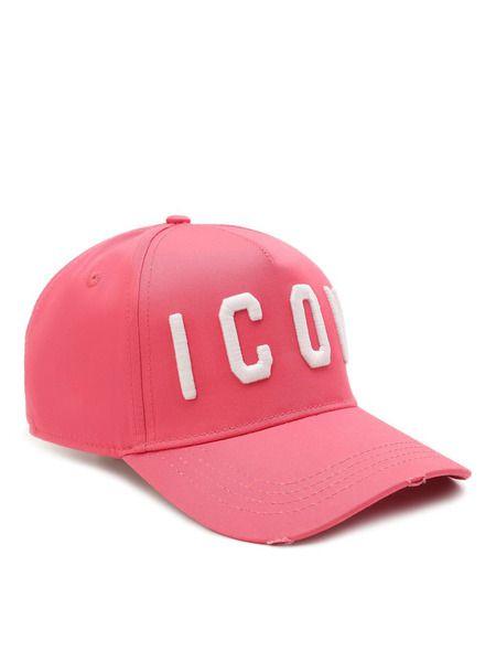 Розовая хлопковая бейсболка Icon Dsquared2 фото